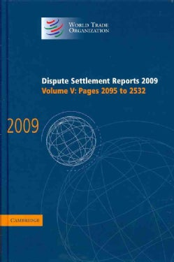 Dispute Settlement Reports: 2009 (Pages 2095-2532) (Hardcover)