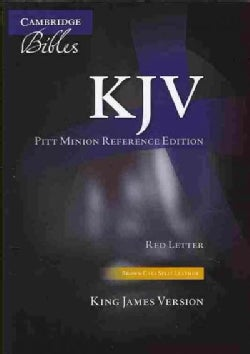 Holy Bible: King James Version, Brown, Calf Split Leather, Pitt Minion Reference Edition, Red Letter (Paperback)