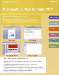 Microsoft Office 2011 for MAC Coursenotes (Cards)