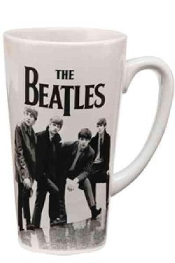 The Beatles Black & White 14 Oz. Ceramic Latte Mug (General merchandise)