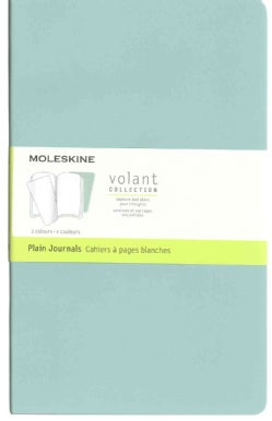 Moleskine Volant Journal - Set of 2: Large, Plain, Sage Green, Seaweed Green (Notebook / blank book)