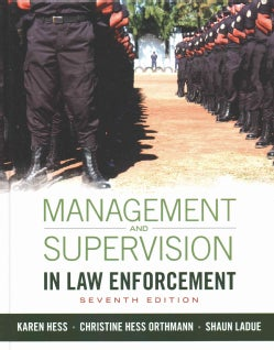 Management and Supervision in Law Enforcement (Hardcover)