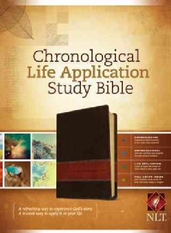 Chronological Life Application Study Bible: New Living Translation Brown / Tan TuTone LeatherLike (Paperback)