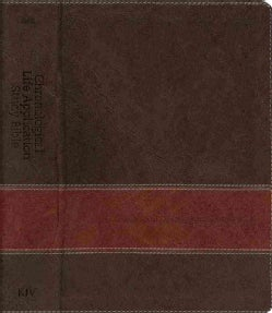 Chronological Life Application Study Bible: King James Version, Brown & Tan LeatherLike (Paperback)