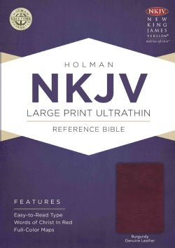 Holy Bible: New King James Version, Burgundy, Genuine Leather, Ultra Thin Reference, With Ribbon Marker (Paperback)