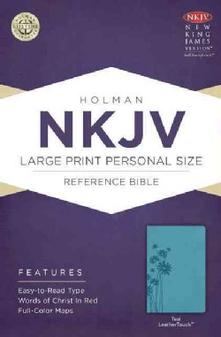 Holy Bible: New King James Version Personal Size Reference, Large Print, Teal, Leathertouch (Paperback)