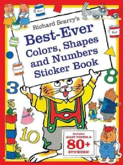 Richard Scarry's Best Ever Colors, Shapes, and Numbers: Includes Giant Poster and 80+ Stickers! (Paperback)