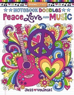 Notebook Doodles Peace, Love, Music: Coloring & Activity Book (Paperback)