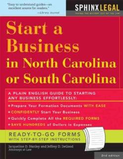 Start a Business in North Carolina or South Carolina (Paperback)