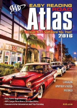 AAA Easy Reading 2016 Road Atlas Canada United States Mexico (Paperback)