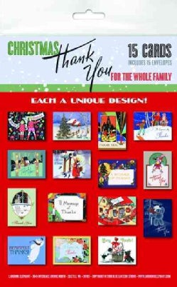 Christmas Thank You for the Whole Family Notecard Packet: 15 Assorted Greeting Cards With Envelopes (Cards)