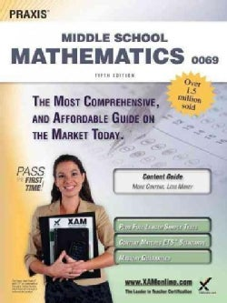 Praxis II Middle School Mathematics 0069 Teacher Certification Study Guide Test Prep (Paperback)