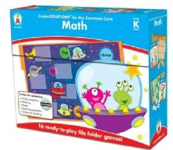 Center SOLUTIONS for the Common Core Math, Grade K: 16 ready-to-play file folder games! (Game)