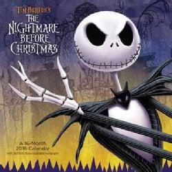 Tim Burton's the Nightmare Before Christmas 2016 Calendar: Free Downloadable Wallpaper Included (Calendar)