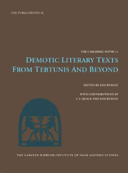 Demotic Literary Texts from Tebtunis and Beyond (Hardcover)