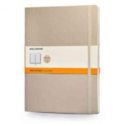 Moleskine Classic Colored Notebook, Extra Large, Ruled, Khaki Beige (Notebook / blank book)
