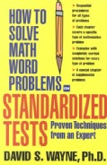How to Solve Math Word Problems on Standardized Tests (Paperback)