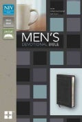 Men's Devotional Bible: New International Version Black Italian Duo-Tone (Paperback)