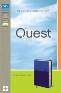 Quest Study Bible: The Question & Answer Bible: New International Version Blue / Blue Italian Duo-Tone Personal Size (Paperback)