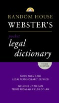 Random House Webster's Pocket Legal Dictionary (Paperback)