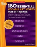 180 Essential Vocabulary Words for 6th Grade: Independent Learning Packets That Help Students Learn the Most Impo... (Paperback)