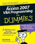 Access 2007 VBA Programming for Dummies (Paperback)