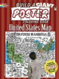 Build a Giant Poster Coloring Book - United States Map (Paperback)