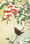 Bird on Berry Tree Half Notecards (Cards)
