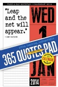 365 Quotes Pad Notepad & Mousepad 2014 Calendar (Calendar)