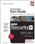 Comptia Security+ Sy0-401 Authorized Cert Guide (Hardcover)