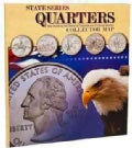State Series Quarters Collector Map (Hardcover)