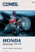 Honda Atc 185 and 200, 1980-1986: Service, Repair, Maintenance (Paperback)