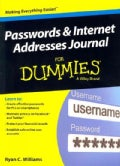 Passwords & Internet Addresses Journal for Dummies (Paperback)