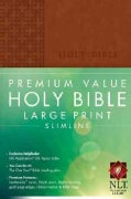 Holy Bible: New Living Translation Brown LeatherLike Premium Value Slimline (Paperback)
