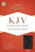 Holy Bible: King James Version, Charcoal, Leathertouch, Super Giant Print Reference Bible (Paperback)