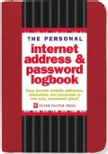 The Personal Internet Address & Password Logbook - Red (Hardcover)