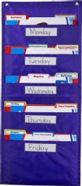 File Folder Storage: Purple Pocket Chart Storage (Other book format)