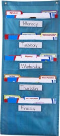 File Folder Storage: Teal Pocket Chart Storage (Other book format)