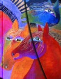 Laurel Burch Wild Horses of Fire Midi LIN: Lined Edition (Notebook / blank book)