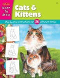 Cats And Kittens: Learn To Draw And Color 26 Different Kitties, Step By Easy Step, Shape By Simple Shape! (Paperback)