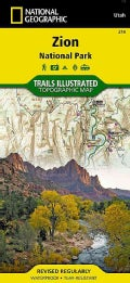 National Geographic Trails Illustrated Topographic Map Zion National Park (Sheet map, folded)