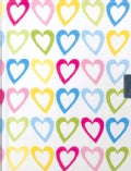 Hearts Locking Journal (Notebook / blank book)