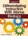 Differentiating Instruction With Menus: Biology (Paperback)