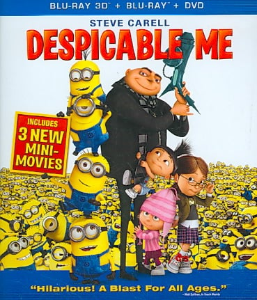 Despicable Me (4-Disc Combo: Blu-ray 3D / Blu-ray / DVD / Digital Copy)