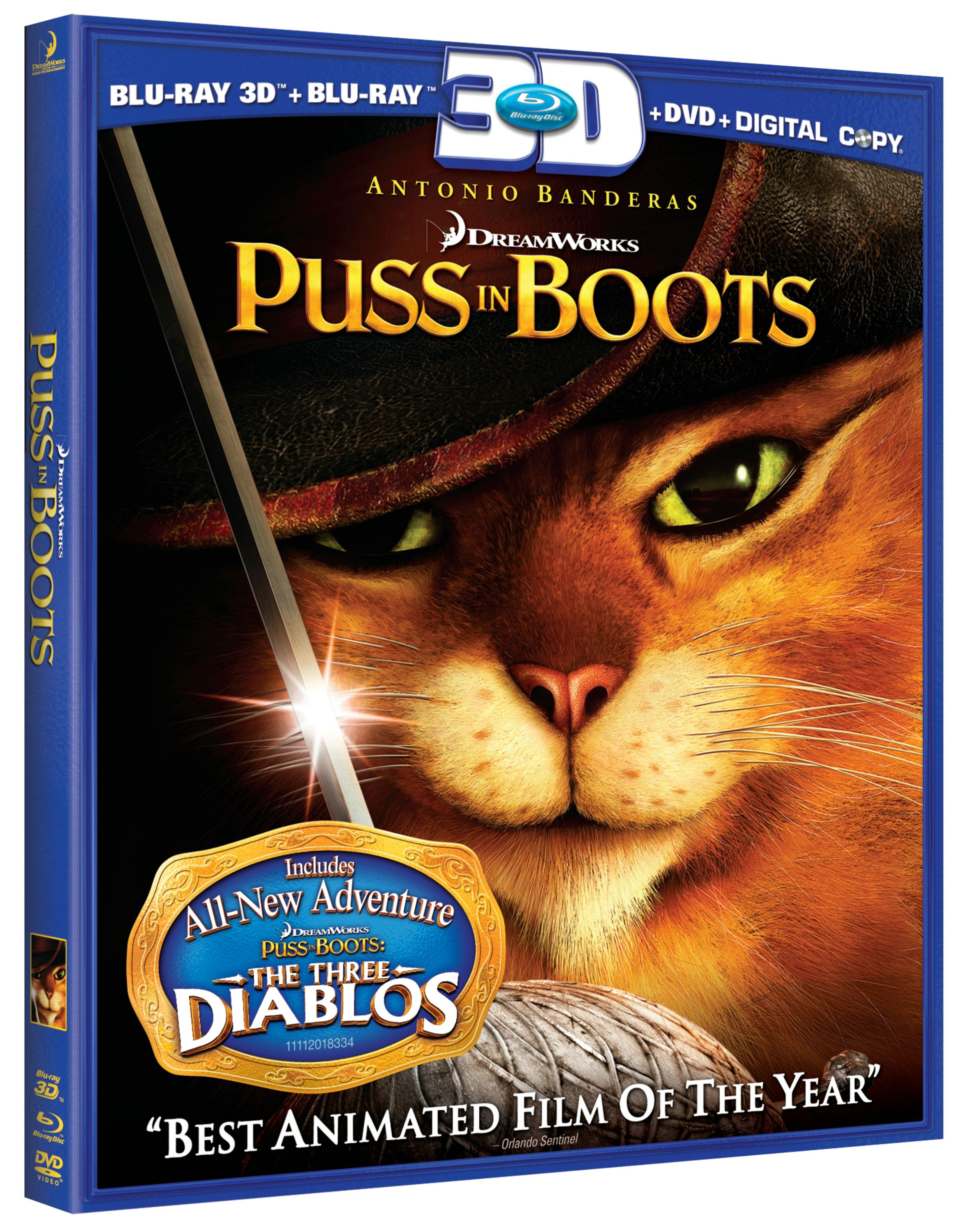 Puss In Boots 3D (Blu-ray/DVD)