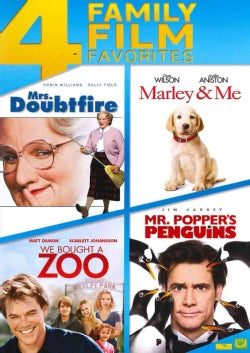Mrs. Doubtfire/Marley & Me/We Bought A Zoo/Mr. Popper's Penguins