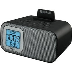 iHome Black Bluetooth Dual Alarm Clock