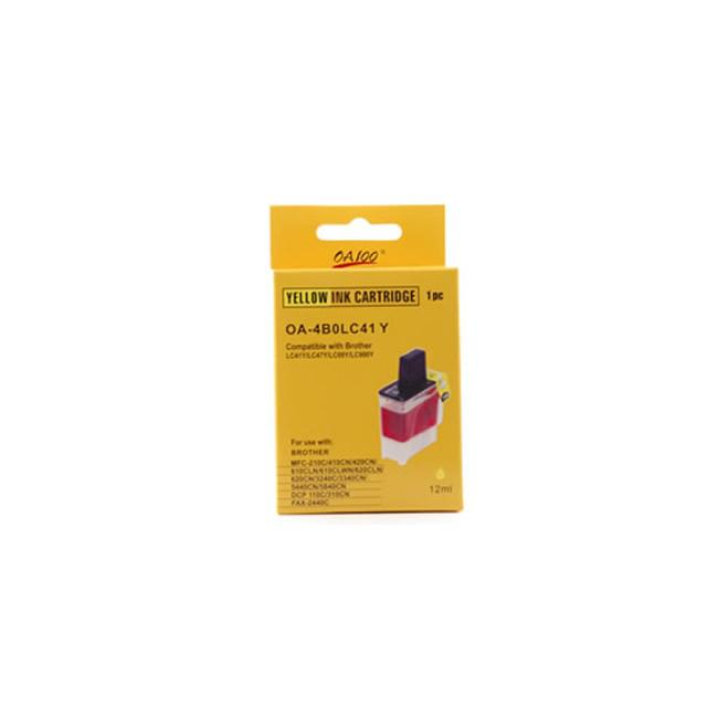 Yellow Ink Cartridge for Brother LC41Y