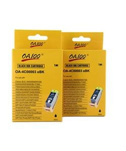 Black Ink Cartridge for Canon BCI-3eBK (Pack of 2)