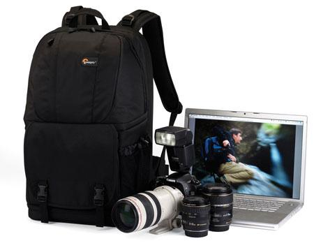 Lowepro Fastpack 350 Black Camera and 17 in Laptop Backpack Slingbag